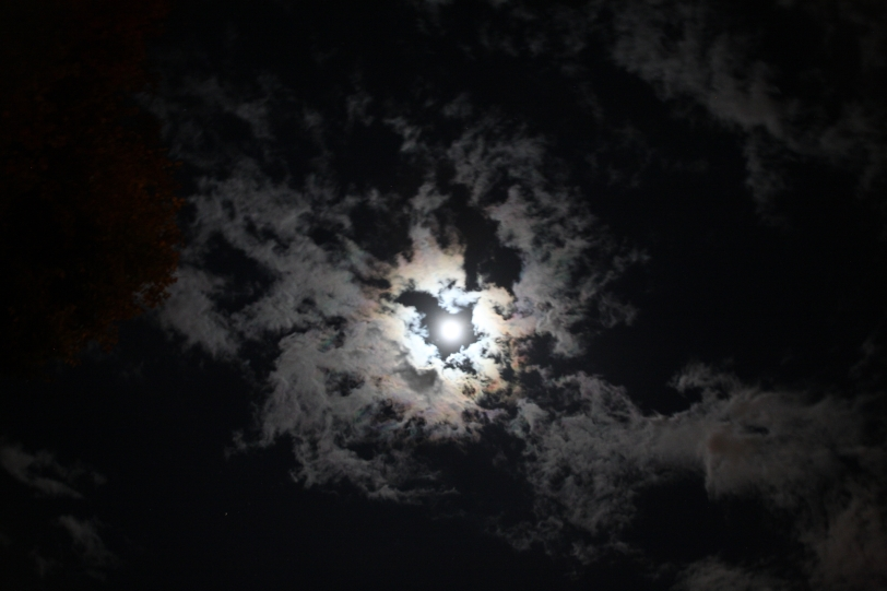 Moon and clouds